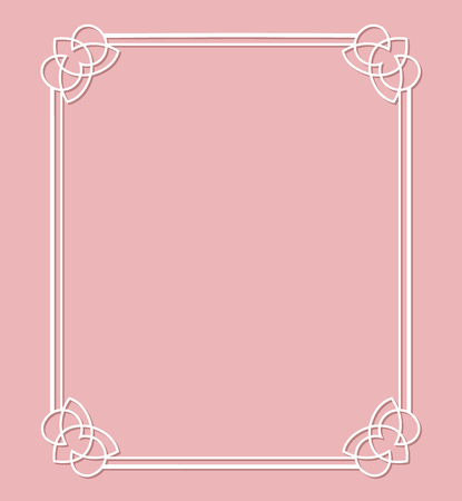Card with frame on a pink background