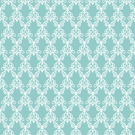 white openwork pattern on a turquoise background Archivio Fotografico - 127272762