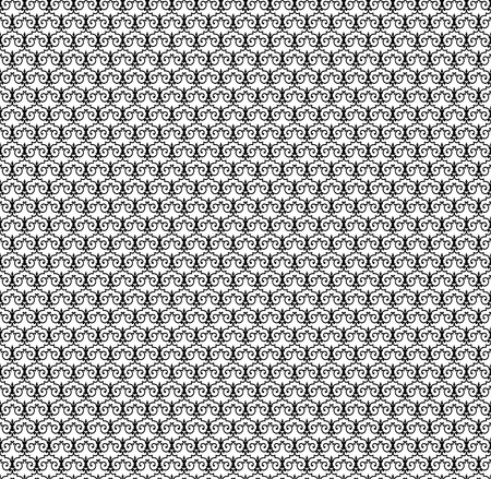 black abstract pattern on a white background