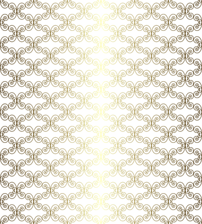 gold openwork pattern on a white background