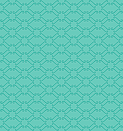 Abstract seamless pattern in turquoise tones. Vector
