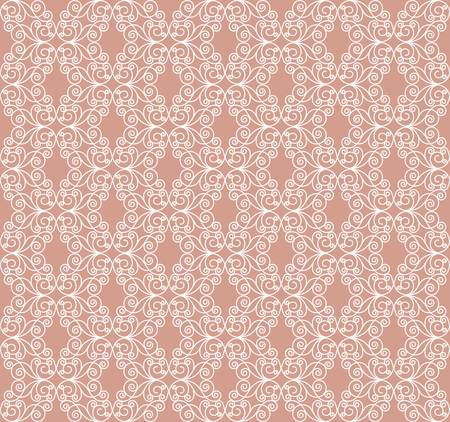 decorative seamless white pattern on a pink background