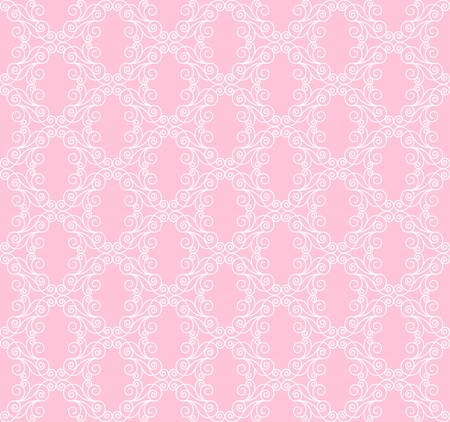 decorative white openwork pattern on a pink background