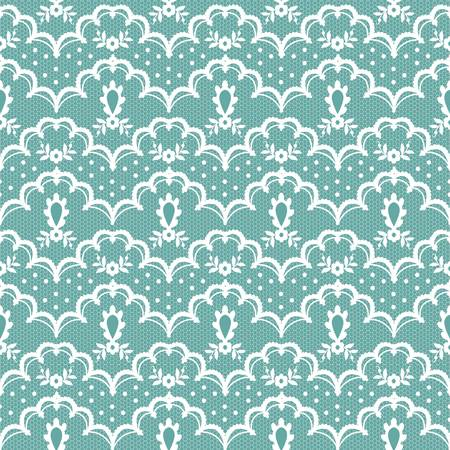 white floral lace pattern on a turquoise background Çizim