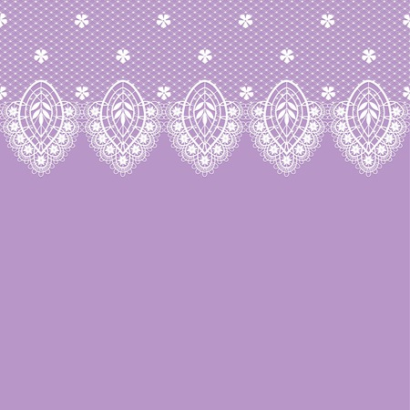 white lace with ornament on a violet background