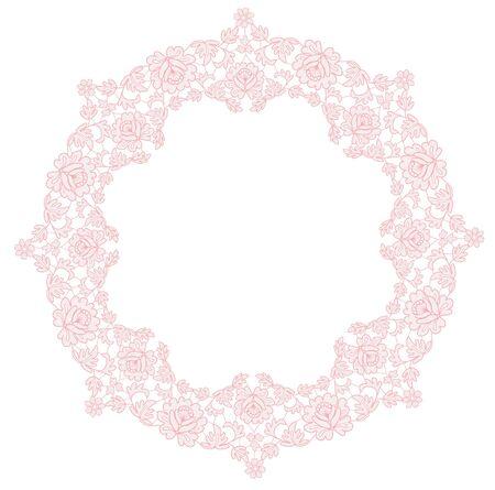 lace floral frame Archivio Fotografico - 132120846