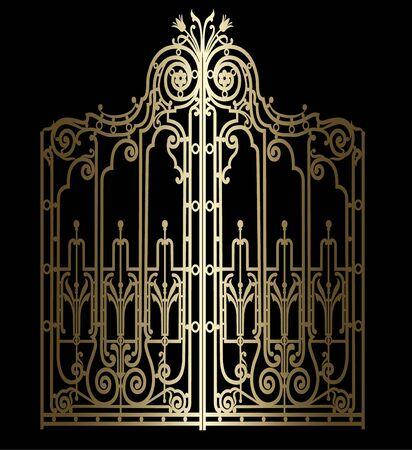 golden vintage gate Reklamní fotografie - 132120717