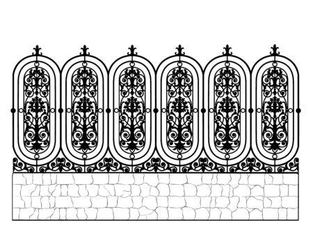 metal vintage fence Ilustracja