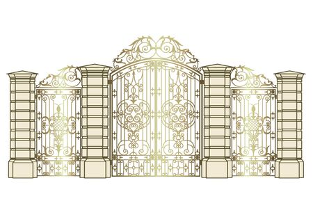 gate and wickets Vector Illustratie