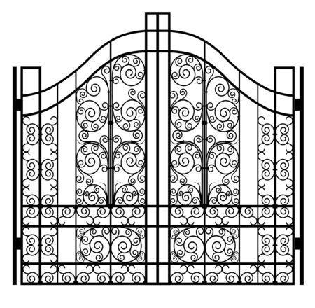 Puerta de hierro forjado Ilustración de vector