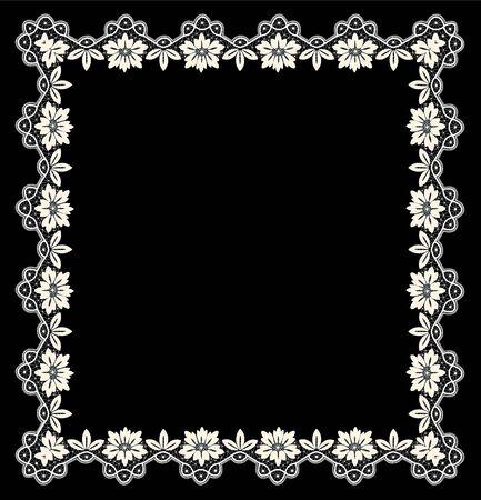 white openwork frame 矢量图片
