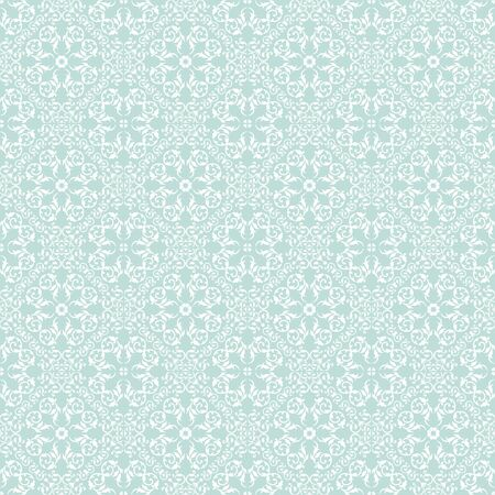 Seamless pattern of vintage damask