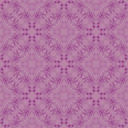 Purple floral pattern Ilustração