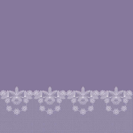 card with lace border on a lilac background