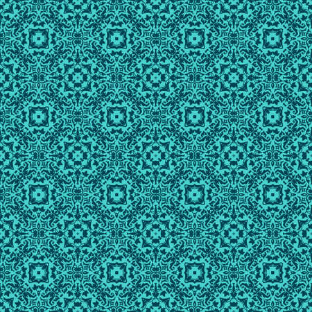 sophisticated vintage pattern on a turquoise background