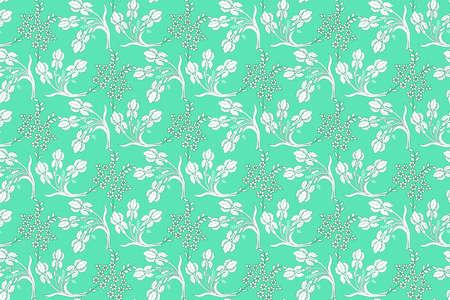 white floral pattern Standard-Bild - 156331232