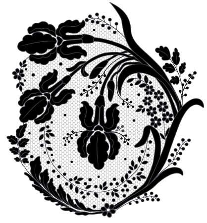 lace flower decor