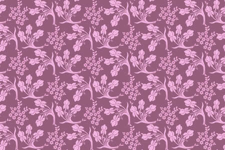 Pink floral seamless  pattern Illustration