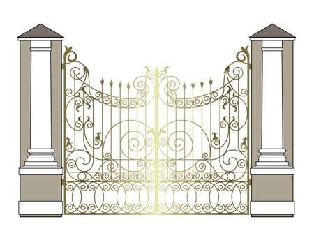 golden vintage gate
