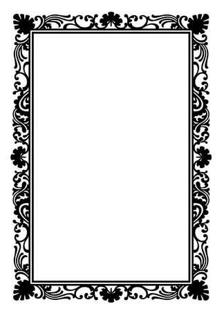 black vintage frame