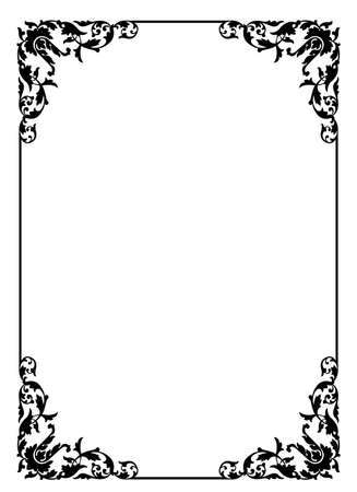 frame with floral pattern