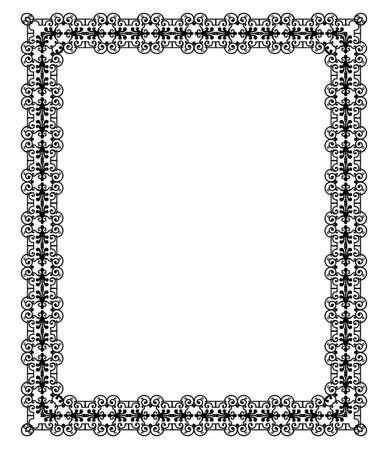 elegant black frame