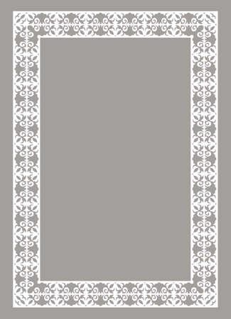 white decorative frame Illustration
