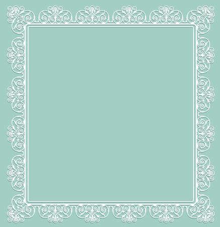 white openwork frame Illustration