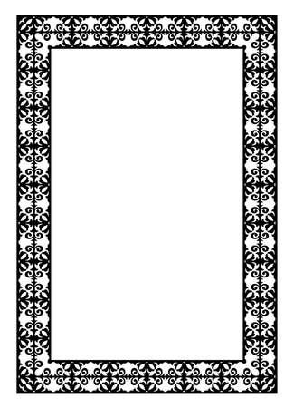 decorative black frame