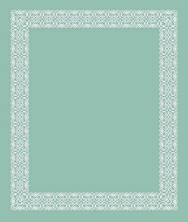 elegant white frame