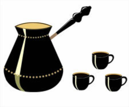 black coffee vector Çizim