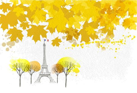 Paris autumn vector background