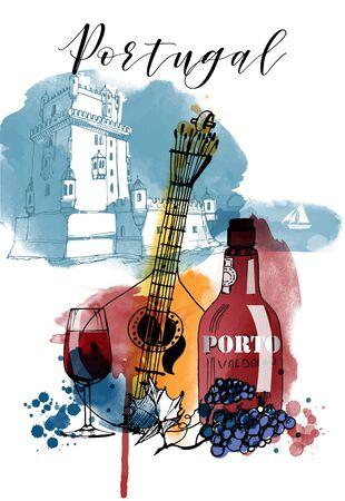 Portugal vector illustration 矢量图像