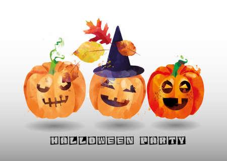 Halloween vector watercolor background Stock fotó - 155749631