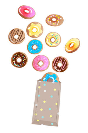 Vector set of sweets. Sketch vector illustration