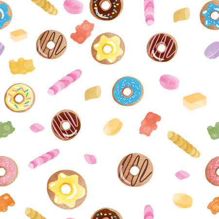 seamless donut pattern