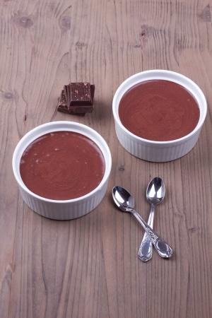 Chocolade desserts op een tafel Stockfoto