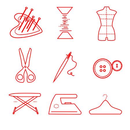 Set van lineaire knoppen