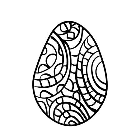 Easter egg vector for coloring book doodle stars pattern illustration isolated Ilustração