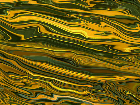 Liquid marble gold and green natural texture abstract background