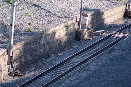 Side view of one way railway