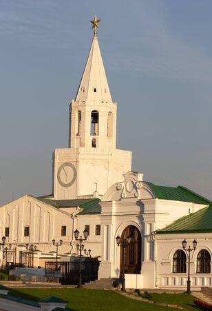 Spasskaya tower of Kazan Kremlin in Russia Stock Photo - 130108929