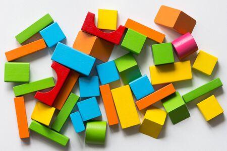Multicolor blocks for children on the white background Stock Photo