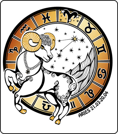 One Aries  rides behind them are symbols of all zodiac signs