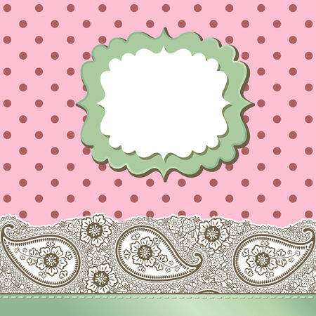 Template design for card, packaging,invitations,template,artwork Decorative element border,Strip lace  Pastel colour Orient traditional ornament,motif Imitation handmade lace Vector illustration  Vector