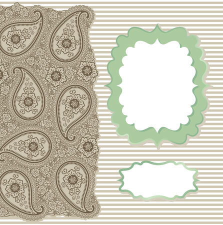 pastel colour: Template Strip lace design for card,packaging,invitations,template,artwork Decorative element borderand strips Pastel colour Orient traditional ornament, motif Imitation handmade lace Vector illustration