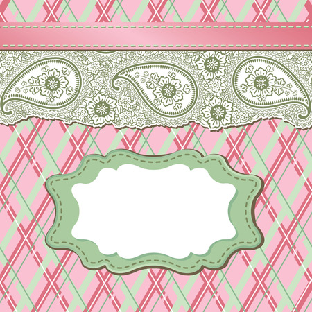 Template design for card,for packaging,invitations,template,artwork Decorative element border,Strip lace Pastel colour Orient traditional ornament,motif Imitation handmade lace Vector illustration  Vector