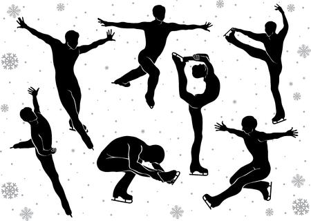 sophistication: Hombres Patinaje art�stico en movimiento en la silueta de hielo