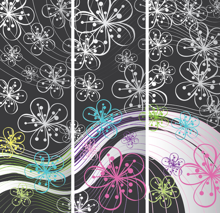 Abstract background of lines and outline Vector