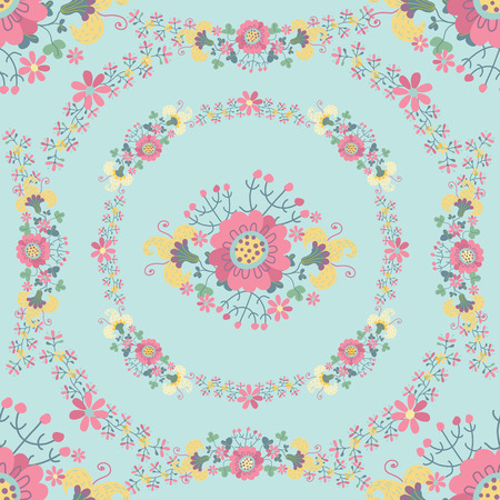 Cute Floral Seamless pattern photo
